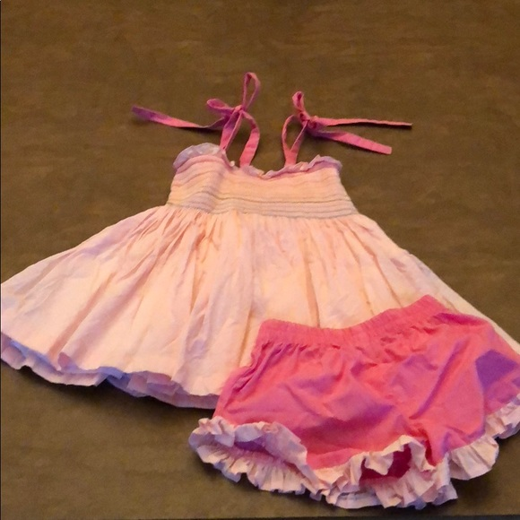 Well Dressed Wolf Other - Well Dressed Wolf Pink Rainbow Tunic Set 2T